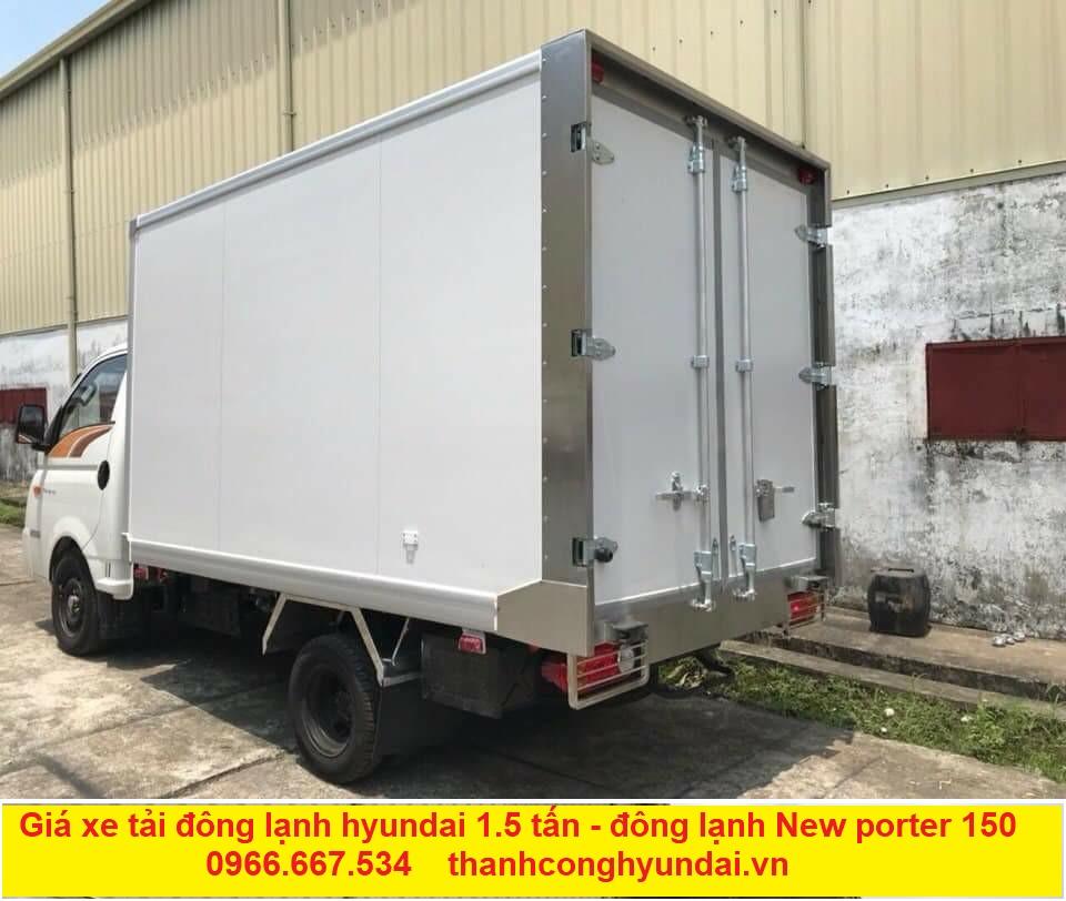 Giá xe tải đông lạnh hyundai 1.5 tấn. Giá xe tải đông lạnh hyundai new porter 150 trả thẳng giá gốc nhà máy. Giá xe tải đông lạnh hyundai 1.5 tấn trả góp chỉ 120 triệu đồng .